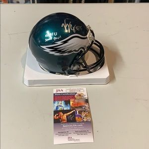 Other - Vinny Curry Signed Eagles  Mini Helmet JSA